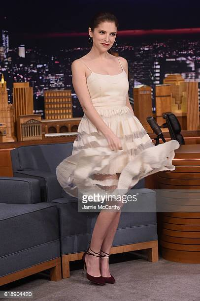 Anna Kendrick visits the 'The Tonight Show Starring Jimmy Fallon' on October 28 2016 in New York City