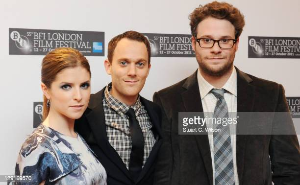 Anna Kendrick Will Reiser and Seth Rogen attend the premiere of 50/50 at the 55th BFI London Film Festival at Odeon Leicester Square on October 13...