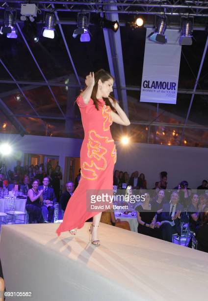 Anna Kendrick winner of the Writer award walks the runway to accept her award at the Glamour Women of The Year Awards 2017 in Berkeley Square Gardens...