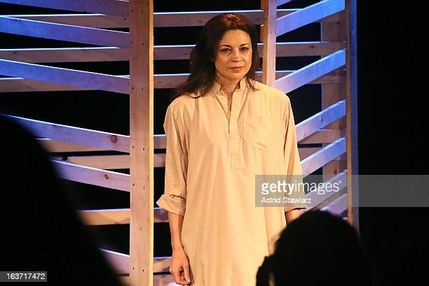Anna Khaja attends 'Shaheed The Dream And Death Of Benazir Bhutto' Off Broadway Opening Night at Culture Project on March 14 2013 in New York City