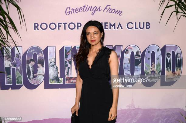 Anna Khaja attends the Rooftop Cinema Club Premiere Night at NeueHouse Los Angeles on March 19 2019 in Hollywood California