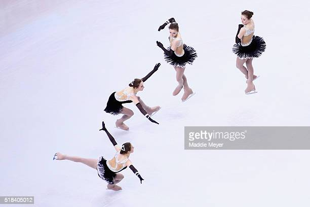 Anna Khnychenkova of Ukraine skates in the Ladies Short Program during Day 4 of the ISU World Figure Skating Championships 2016 at TD Garden on March...