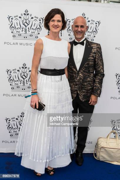 Anna Kinberg Batra and Micael Bindefeld attend an award ceremony for the Polar Music Prize at Konserthuset on June 15 2017 in Stockholm Sweden