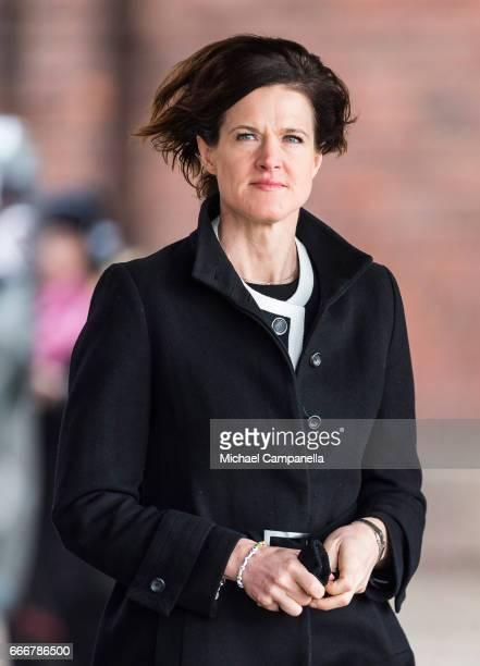 Anna Kinberg Batra leader of the Moderate party attends the city of Stockholm's official ceremony for the victims of the recent terrorist attack on...