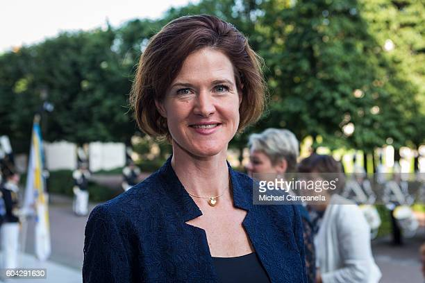 Anna Kinberg Batra of the Moderate party attends a ceremony at Riksdag in connection with the opening session of the Swedish parliament on September...
