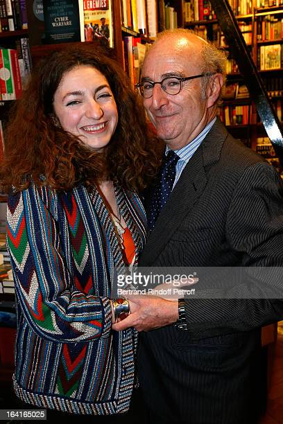 Anna Klossowska de Rola and Leonello Brandolini d'Adda attend the book signing of 'Dream Life' by Thadee Klossowski De Rola at Galignani Bookstore in...