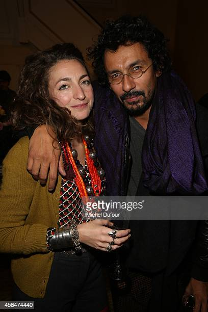 Anna Klossowski de Rola and Haider Ackermann attend the 'Loulou de la Falaise' book signing on November 5 2014 in Paris France