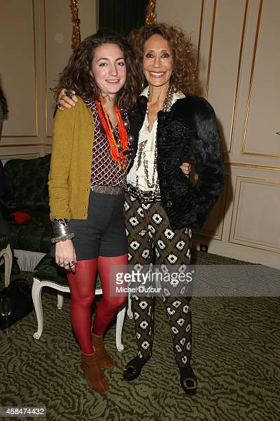 Anna Klossowski de Rola and Marisa Berenson attend the 'Loulou de la Falaise' book signing on November 5 2014 in Paris France