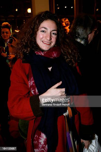 Anna Klossowski de Rola attends Vincent Darre Exhibition opening at Galerie Pierre Passebon on March 19 2013 in Paris France