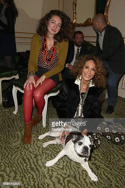 Anna Klossowski de Rola Marisa Berenson and Moujik 4 attend the 'Loulou de la Falaise' book signing on November 5 2014 in Paris France
