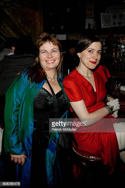 Anna Kohler and Maggie Hoffman attend A Theater of Varieties THE WOOSTER GROUP Benefit Sponsored by MAC and The BOX Produced by Tanya Selvaratnam at...