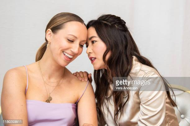 Anna Konkle and Maya Erskine at the PEN15 Press Conference at The London Hotel on May 17 2019 in West Hollywood California