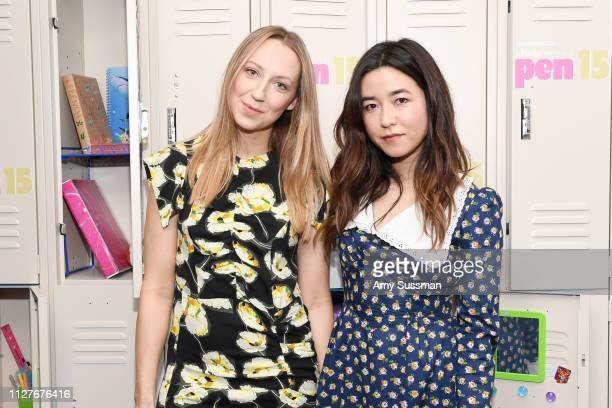 Anna Konkle and Maya Erskine attend the screening of Pen15 at NeueHouse Hollywood on February 05 2019 in Los Angeles California