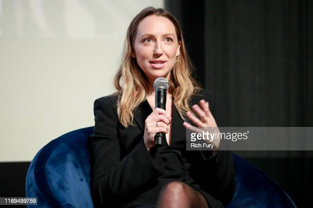 Anna Konkle speaks onstage during the Writers Guild Foundation's Sublime Primetime at Writer's Guild Theater on August 21 2019 in Los Angeles...