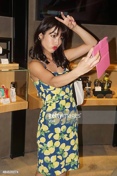 Anna Konno Japanese gravure idol from Kanagawa Prefecture attends a commercial activity on August 19 2015 in Shanghai China