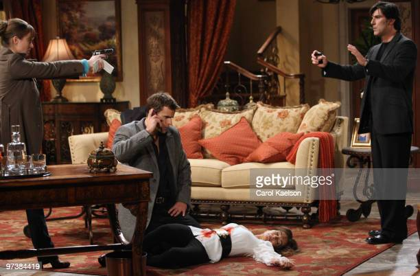 CHILDREN Anna Koonin Cameron Mathison Susan Lucci and Vincent Irizarry in a scene that airs the week of March 1 2010 on ABC Daytime's 'All My...
