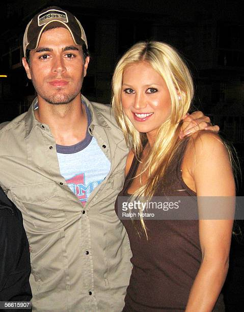 Anna Kournakouva and Enrique Iglesias are seen walking around South Beach on January 10 2005 in Miami Florida