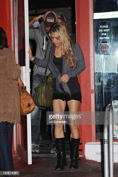 Anna Kournikova and Enrique Iglesias are sighted on November 12 2011 in Miami Beach Florida