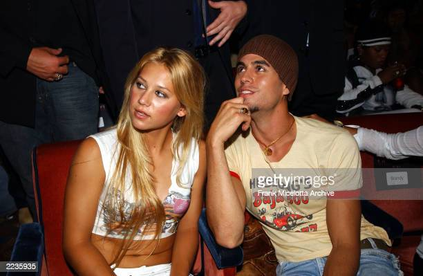 Anna Kournikova and Enrique Iglesias in the audience at the 2002 MTV Video Music Awards at Radio City Music Hall in New York City August 29 2002...