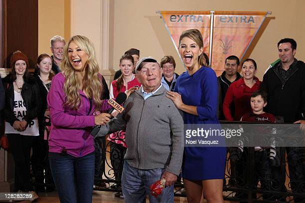 Anna Kournikova and Maria Menounos visit Extra at The Grove on October 5 2011 in Los Angeles California