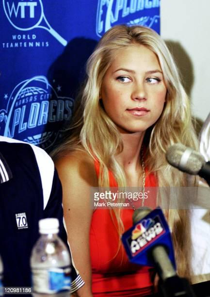 Anna Kournikova arrived in Kansas City today to play World Team tennis for the Kansas City Explorers