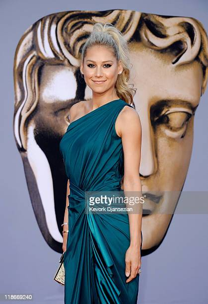 Anna Kournikova arrives at the BAFTA Brits To Watch event held at the Belasco Theatre on July 9 2011 in Los Angeles California