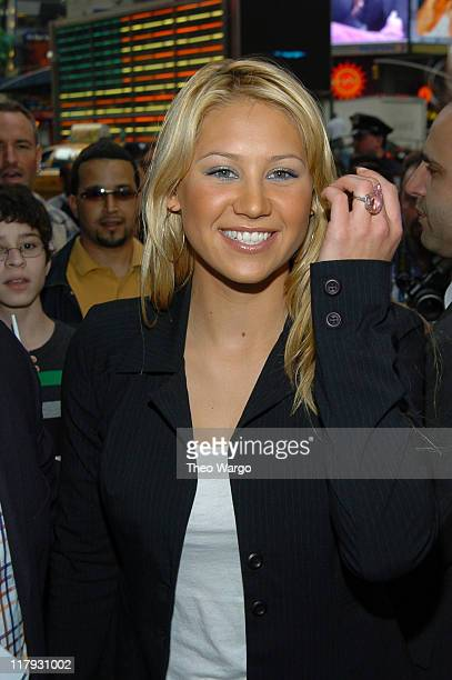 Anna Kournikova at Gillette's Completely Irresitable Face contest at Times Square Studios in New York City May 5 2004