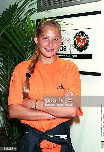 Anna Kournikova at RolandGarros 1997 Tournament