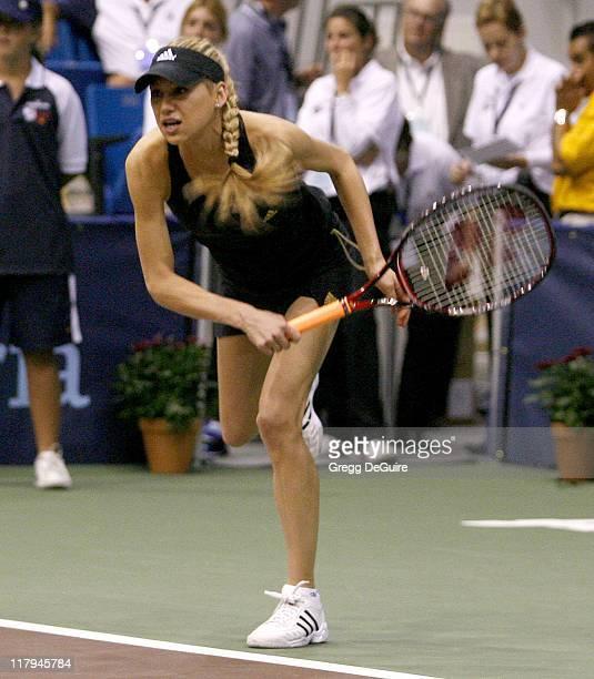 Anna Kournikova at the Advanta WTT Smash Hits tennis event at the Bren Center at UC Irvine in Irvine California on September 14 2006