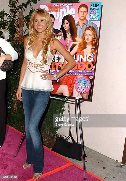 Anna Kournikova at the Cabana Club in Hollywood California