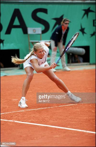 Anna Kournikova at the Roland Garros tournament