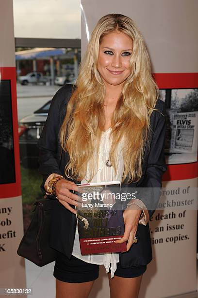 Anna kournikova attends National Enquirer family founders book release party for 'The Deeds of My Fathers' by Paul Pope on October 20 2010 in Fort...