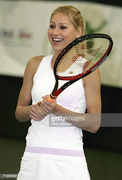 Anna Kournikova attends the Ariel Tennis ACE Finals Day on May 22 2006 in London England Anna Kournikova has teamed up with Tim Henman and Ariel for...