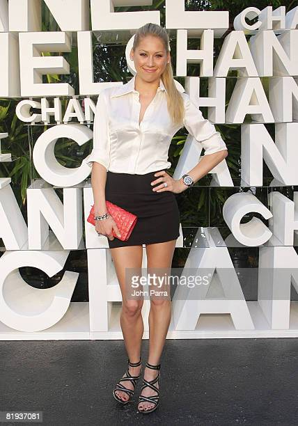 Anna Kournikova attends the CHANEL 2008/09 Cruise Show at The Raleigh Hotel on May 152008 in Miami Beach Florida