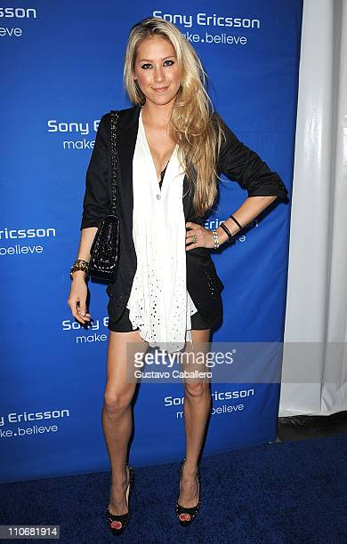 Anna Kournikova attends the Sony Ericsson Players Party at Paris Theater on March 22 2011 in Miami Beach Florida