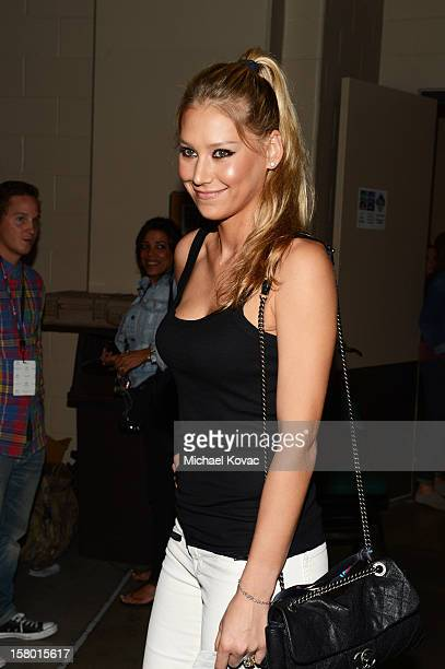 Anna Kournikova attends the Y100's Jingle Ball 2012 at the BBT Center on December 8 2012 in Miami
