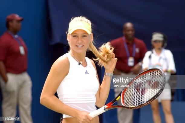 Anna Kournikova during 2003 US Open - Arthur Ashe Kids Day at USTA National Tennis Center in Queens, New York, United States.