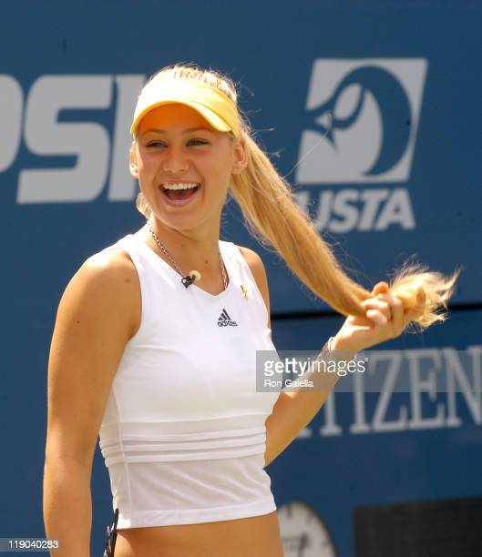 Anna Kournikova during 2003 US Open - Arthur Ashe Kids Day at USTA National Tennis Center in Queens, New York, United States.