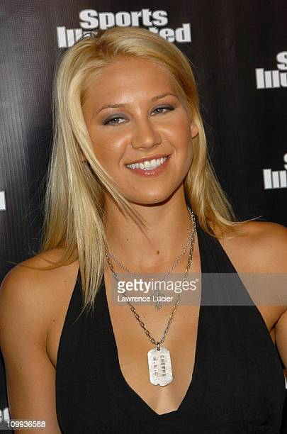 Anna Kournikova during 2004 Sports Illustrated Swimsuit Issue 40th Anniversary Edition at Club Deep in New York City New York United States