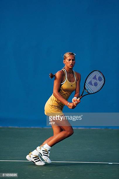 Anna Kournikova during a training session on the eve of the French Open in Paris 23 May 1999