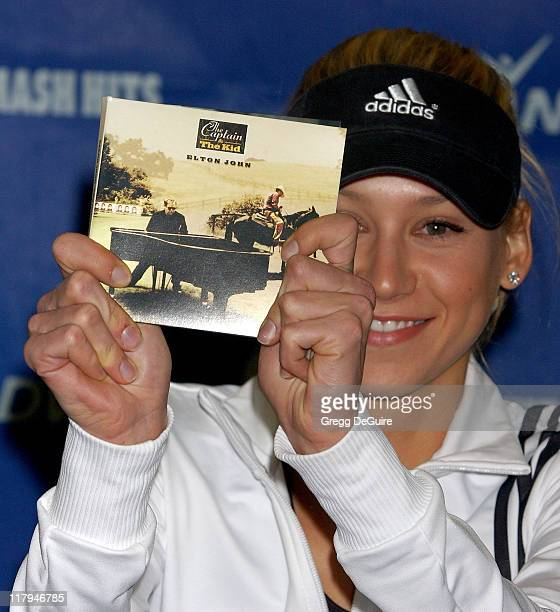 Anna Kournikova during Advanta WTT Smash Hits Charity Tennis Game September 14 2006 at Bren Center/UC Irvine in Irvine California United States
