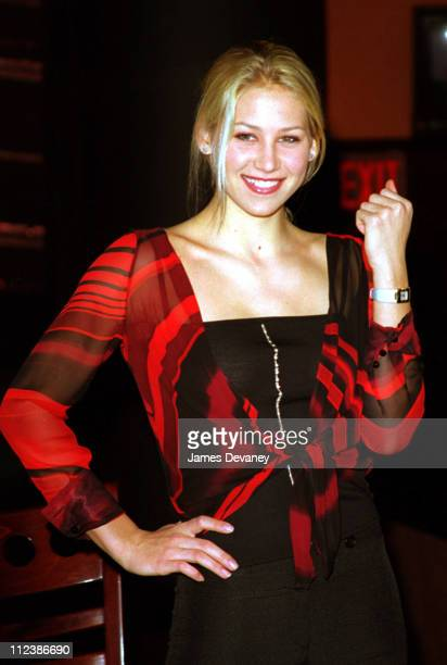 Anna Kournikova during Anna Kournikova Ad Campaign for Omega Watches at ESPN Zone Restaurant in New York City New York United States