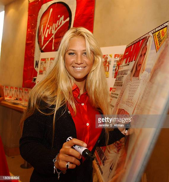 Anna Kournikova during Anna Kournikova at FHM Event at Virgin Mega Store at Virgin Megastore in New York City New York United States