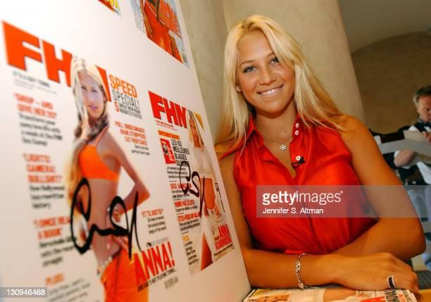 Anna Kournikova during Anna Kournikova at FHM Event at Virgin Mega Store at Virgin Megastore in New York City New York United States