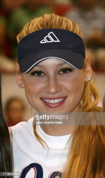 Anna Kournikova during Anna Kournikova World Team Tennis Sacramento Capitals verse Boston Lobsters July 9 2006 at Bright Arena at Harvard in...