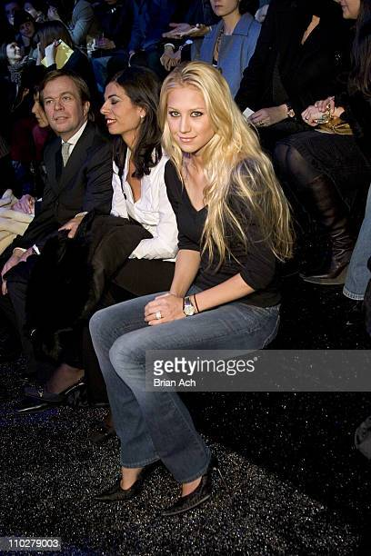 Anna Kournikova during Olympus Fashion Week Fall 2006 Y3 Front Row and Backstage at 239 W 52nd St in New York City New York United States