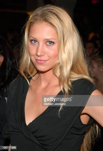 Anna Kournikova during Olympus Fashion Week Spring 2007 Y3 Front Row at Pier 40 in New York City New York United States