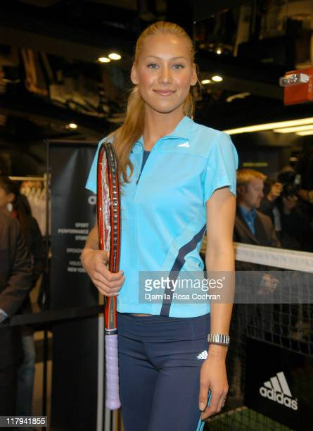 Anna Kournikova during Opening of the World's Largest Adidas Sport Performance Store in the World at Adidas Soho Store in New York City New York...