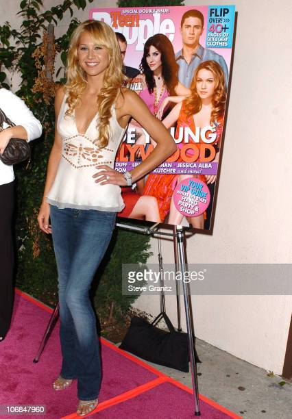 Anna Kournikova during Teen People Celebrates 2nd Annual Young Hollywood Issue Sponsored by EA Games and Baby Phat Arrivals at Cabana Club in...