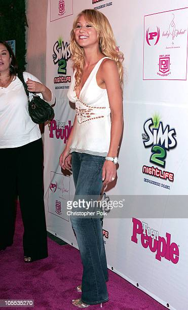 Anna Kournikova during Teen People Celebrates Its Second Annual Young Hollywood Issue Arrivals at Cabana Club in Los Angeles California United States